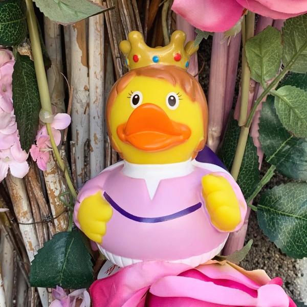 LILALU Quietscheente Königin mit Blumen