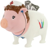 LILALU - SHARE HAPPINESS - Krankenschwester Sparschwein - design by LILALU
