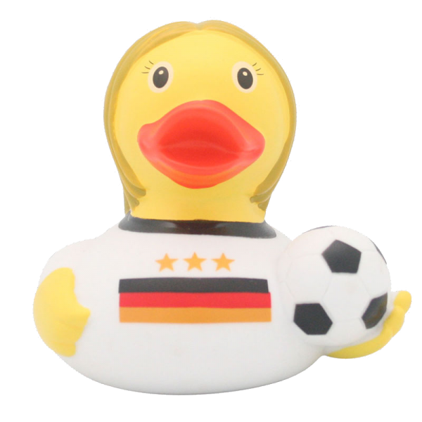 Football player duck, female - design by LILALU