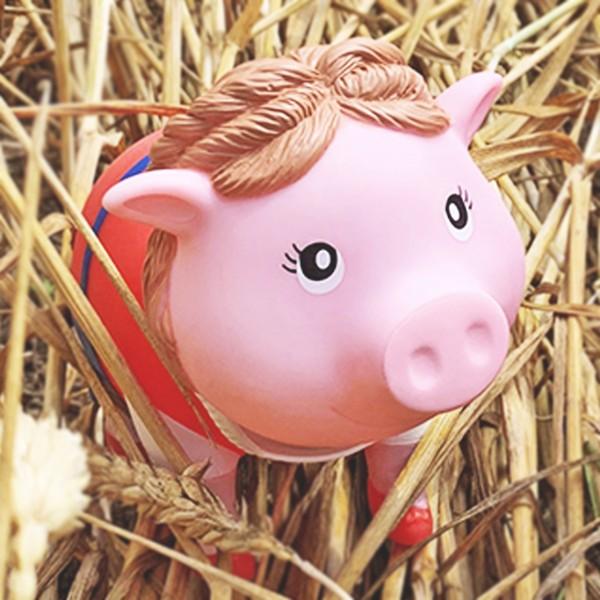 LILALU BIGGYS piggy bank Bavarian Female in straw