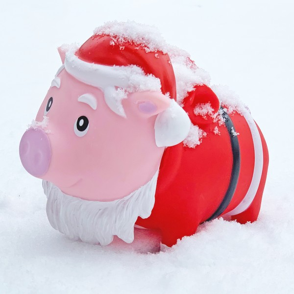LILALU BIGGYS piggy bank Santa Claus with snow