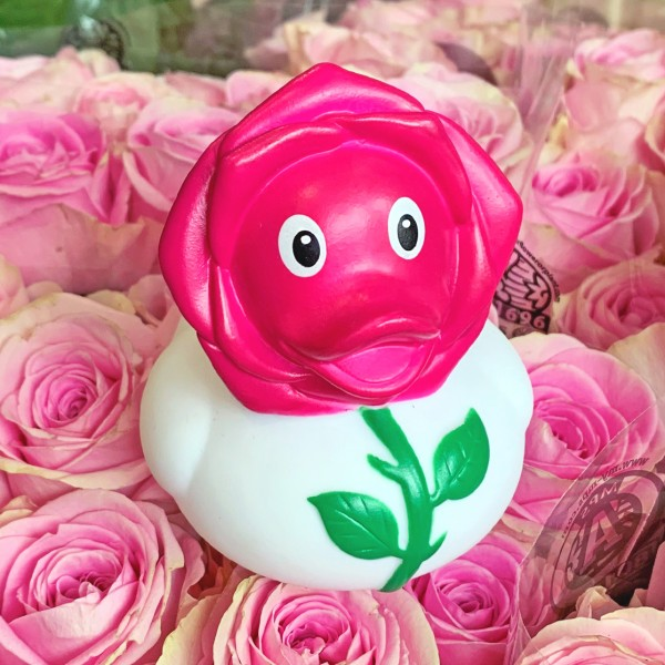 LILALU rubber duck rose duck in a bunch of roses