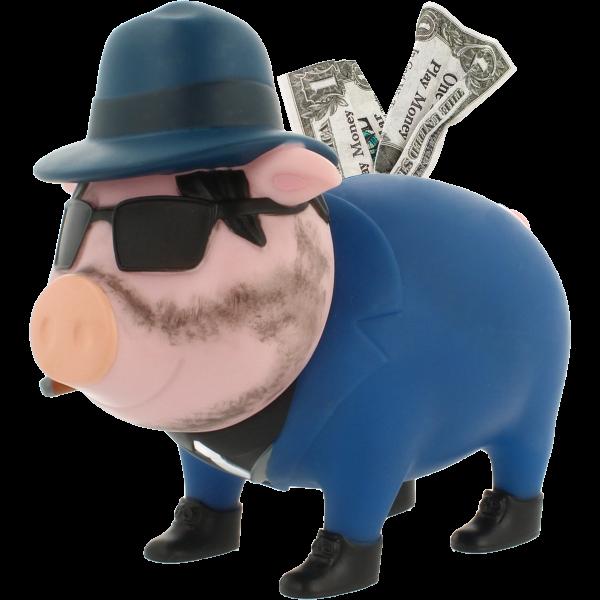 Mafioso Sparschwein, BIGGYS - design by LILALU