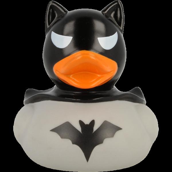 LILALU Dark Duck grau Quietscheente Frontansicht