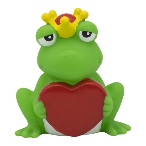 Frog with greeting heart