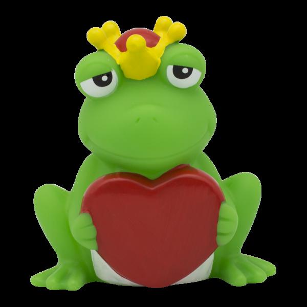 Frosch mit Gruss-Herz
