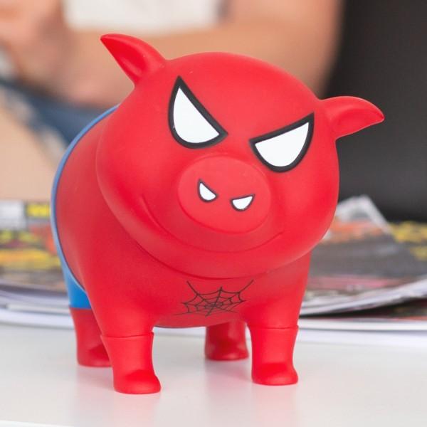 LILALU BIGGYS Sparschwein Spidy mit Comics