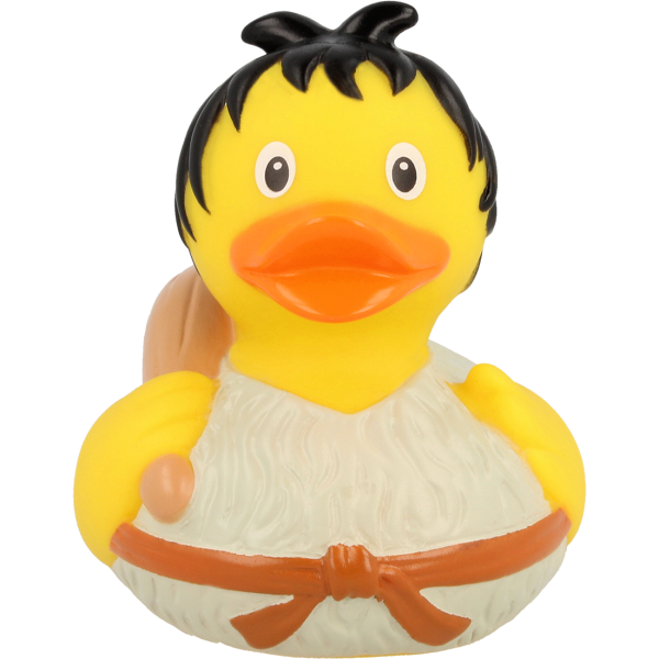 LILALU rubber duck Stoneage frontal view