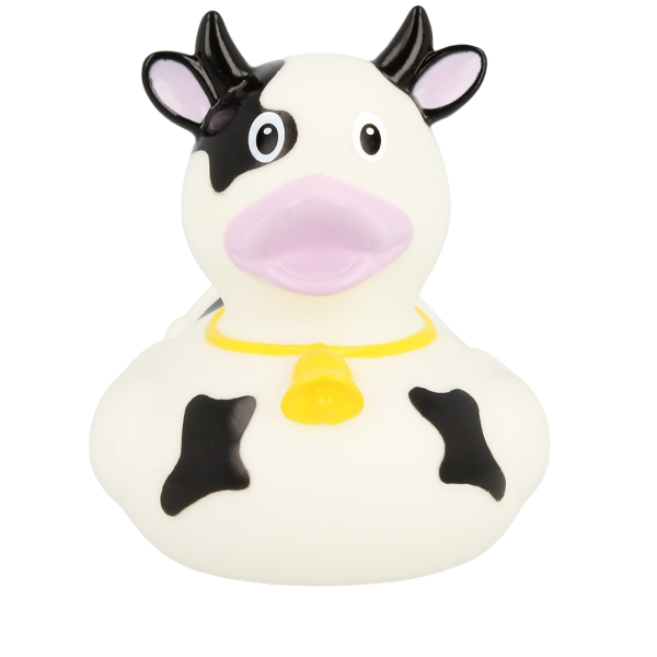 LILALU rubber duck Cow black frontal view