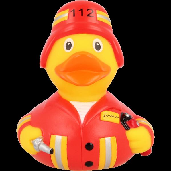 LILALU Feuerwehr Quietscheente Frontansicht