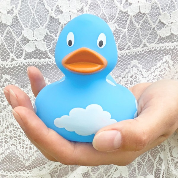 LILALU rubber duck with clouds in hands