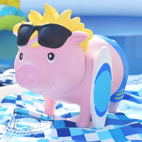 LILALU BIGGYS piggy bank Surfer with swimming trunks
