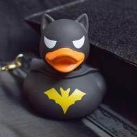 LILALU rubber duck dark duck on a black underground