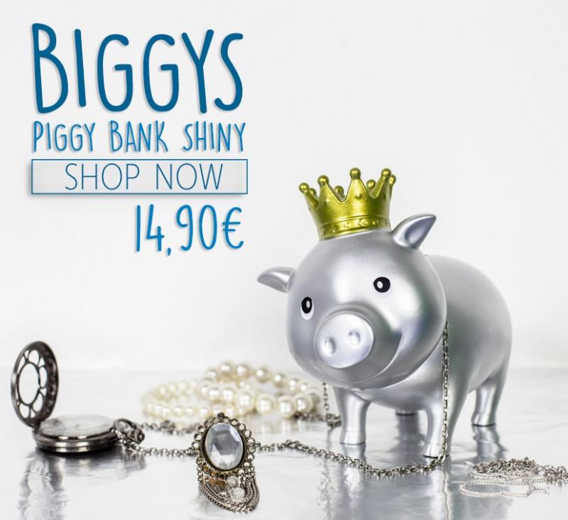 LILALU BIGGYS Piggy bank shiny