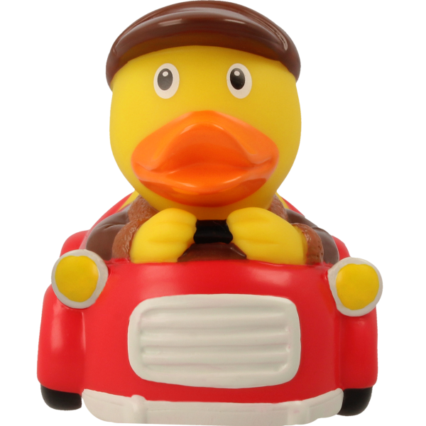 LILALU - SHARE HAPPINESS - Car Driver Rubber Duck - design by LILALU