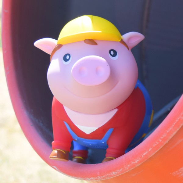 LILALU BIGGYS piggy bank Handyman in a cement mixer