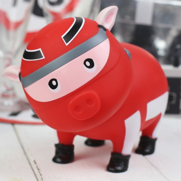 LILALU BIGGYS piggy bank Racer on a table