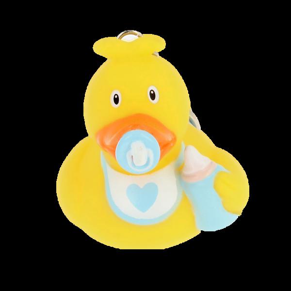 LILALU Quietscheente Schlüsselanhänger Baby Junge Frontansicht