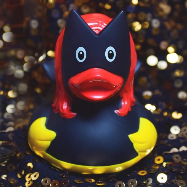 LILALU Quietscheente Dark Duck Frau auf Pailetten