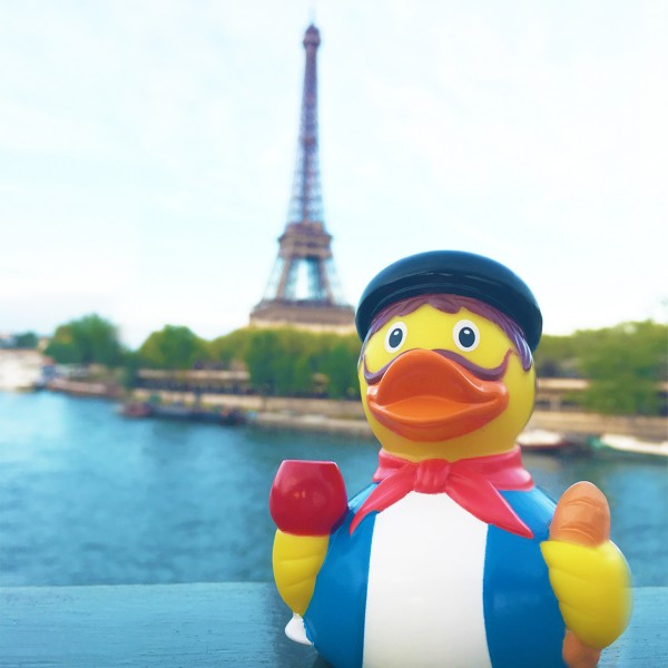 LILALU rubber duck french in front of the Eifel Tower