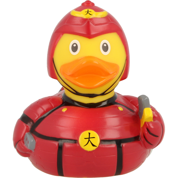 LILALU rubber duck Japanese Fighter frontal view