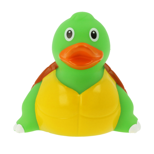 LILALU rubber duck Turtle frontal view
