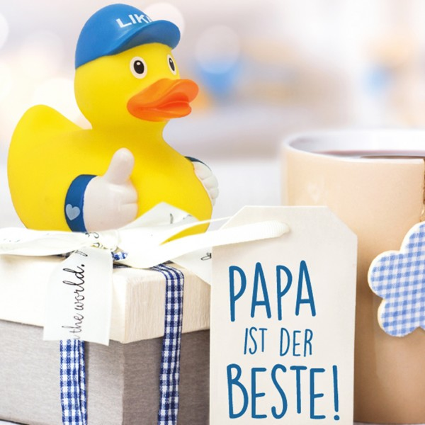 LILALU rubber duck Like as a present for fathersday