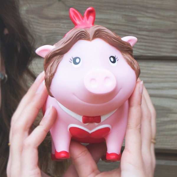 LILALU BIGGYS piggy bank Bunny holding in hands
