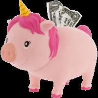 LILALU BIGGYS piggy bank unicorn pink left half