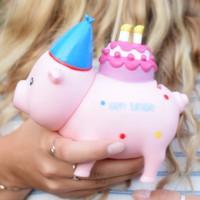 LILALU BIGGYS piggy bank Birthday holding in hands