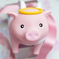LILALU BIGGYS piggy bank Guardian Angel with gift ribbon
