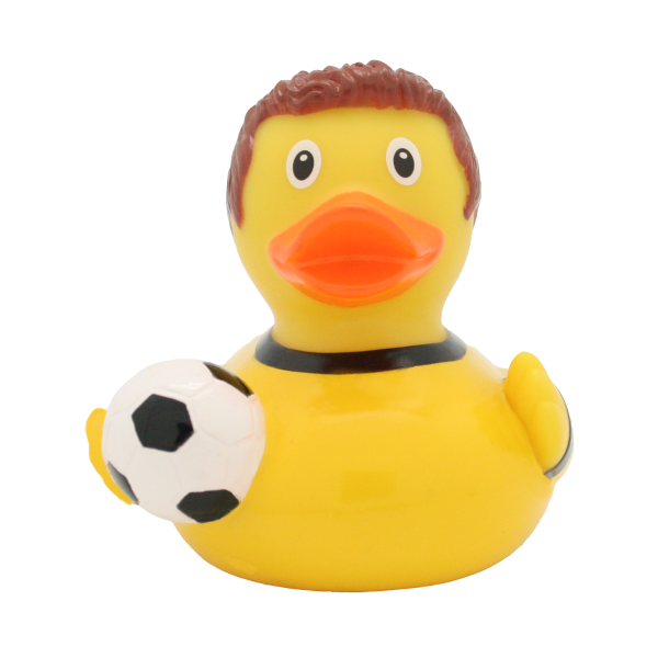 Football Player Duck, yellow-black - design by LILALU