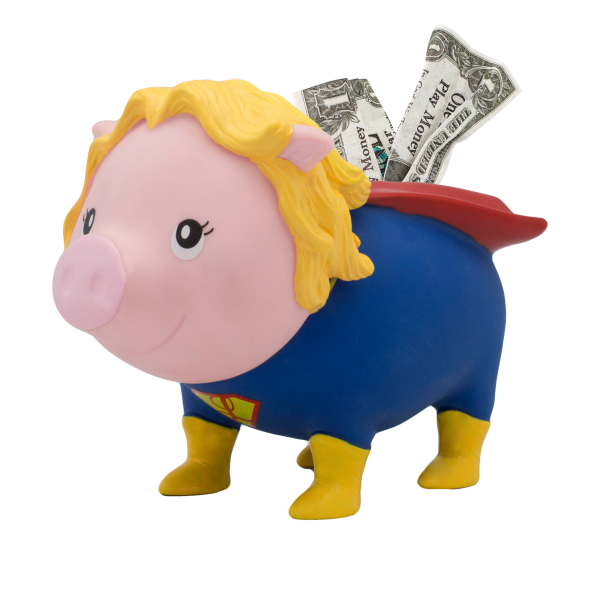 LILALU BIGGYS Sparschwein Superheldin