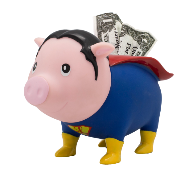 LILALU BIGGYS Sparschwein Superheld