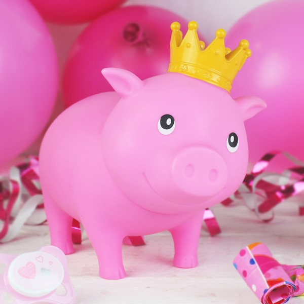 LILALU BIGGYS piggy bank It´s a girl with balloons