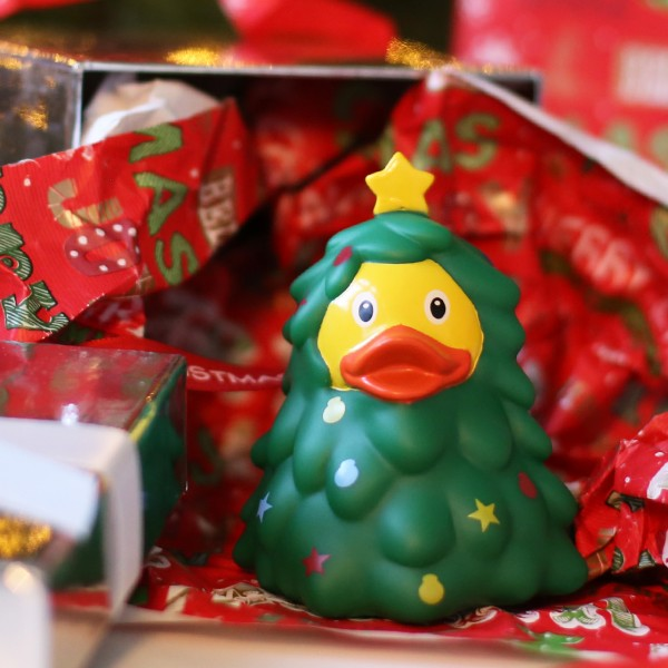 LILALU rubber duck Christmas Tree with presents
