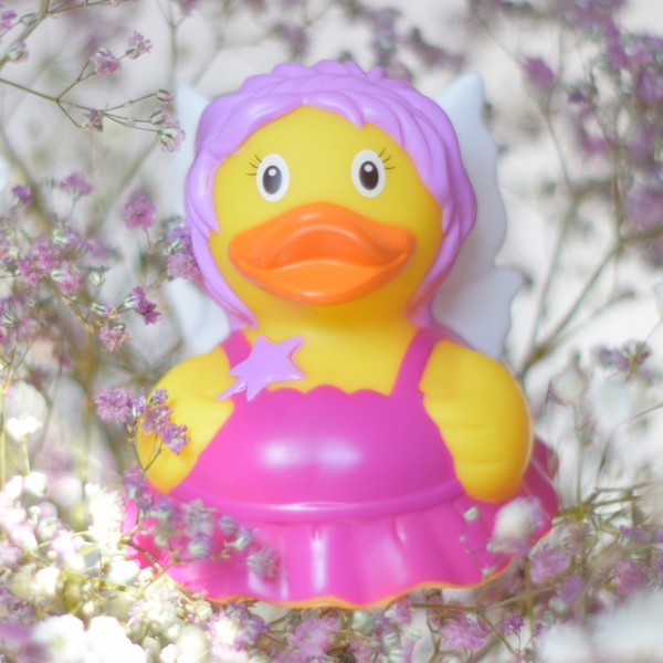 LILALU rubber duck fairy in flowers
